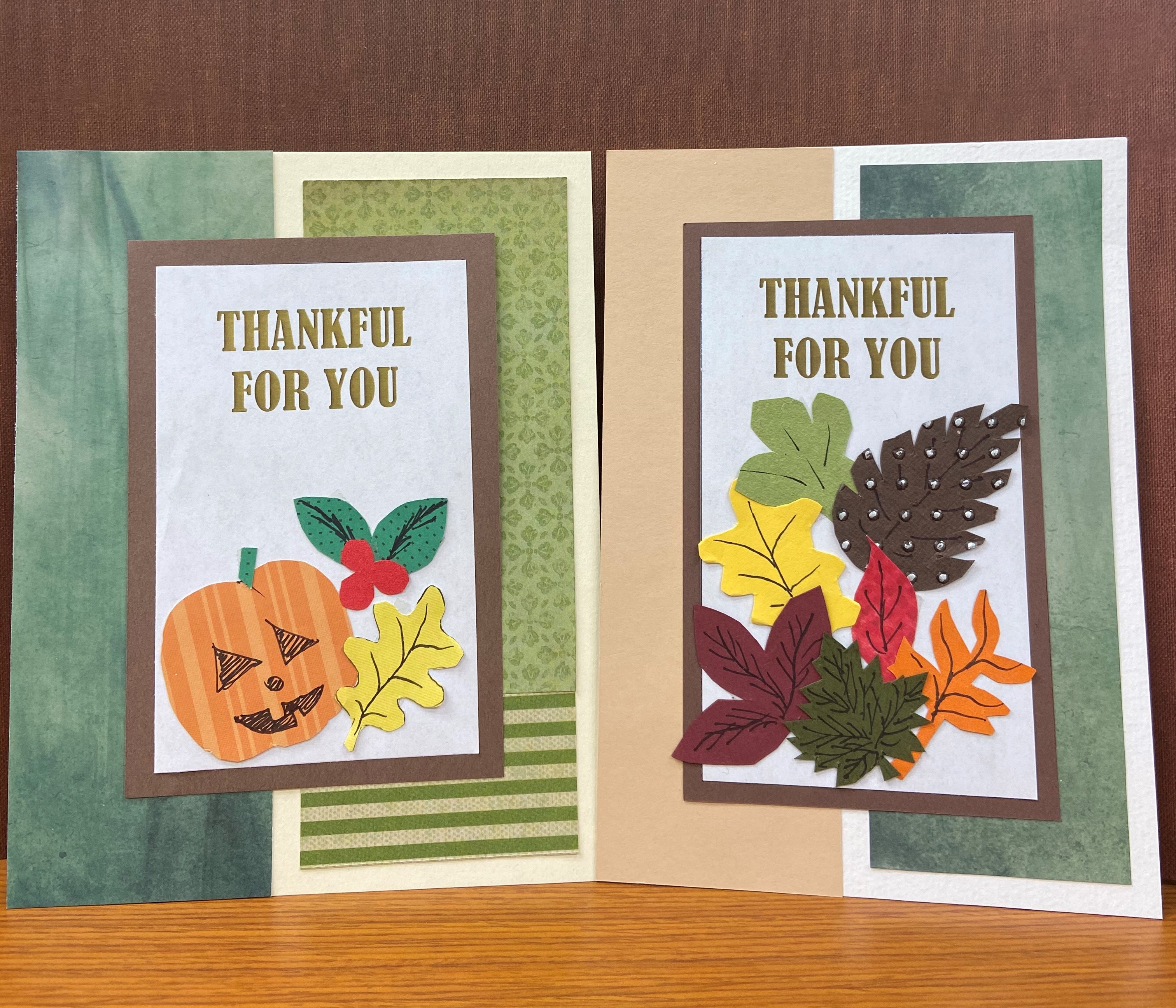 thankful for you card craft